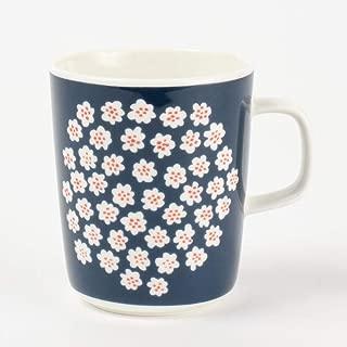 (マリメッコ) MARIMEKKO マグカップ 68354 513 250ml ダークブルー/ホワイト/レッドブラウン 【PUKETTI:プケッティ】 [並行輸入品]
