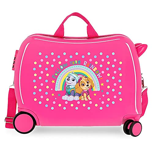 Patrulla Canina Paw Patrol Follow Your Rainbow Maleta Infantil Rosa 50x38x20 cms Rígida ABS Cierre de combinación Lateral 34 1,8 kgs 4 Ruedas Equipaje de Mano