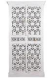 Orientalischer Schrank Kleiderschrank Hamada Weiss 180cm hoch | Marokkanischer Vintage Dielenschrank...