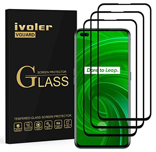 ivoler 3 Stücke Panzerglas Schutzfolie für Oppo Realme X50 Pro 5G, [Volle Bedeckung] Panzerglasfolie Folie Hartglas Gehärtetem Glas BildschirmPanzerglas für Oppo Realme X50 Pro 5G
