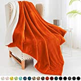 "Walensee Sherpa Fleece Blanket (Twin Size 60""x80"" Orange) Plush Throw Fuzzy Super Soft Reversible Microfiber Flannel Blankets for Couch, Bed, Sofa Ultra Luxurious Warm and Cozy for All Seasons"