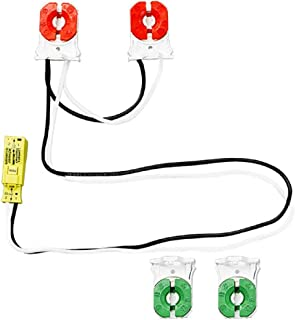 T8 or T12 - Turn-Type Lampholders - Medium Bi-Pin Socket - Non-Shunted - Snap In or Slide On - For Use With 8 ft. Fixture - Tandem Kit For 2 Single-Ended LED Tubes