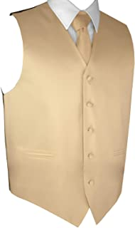 champagne gold vest and tie