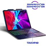 Keyboard Case for iPad Pro 12.9 inch 2020-4th Gen – Touchpad Keyboard Compatible with iPad Pro 12.9 – Backlight Keyboard for Tablet – Protection Wireless Tablet Keyboard - Pencil Holde