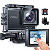 Sport Camera, Crosstour CT9700 4K / 50FPS WiFi Waterproof 40M EIS Advanced Time-Lapse Touch Screen with 2.4G Remote Control 2X1350mAh Batteries and USB Charger