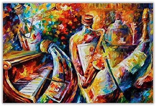 Adultos rompecabezas 1000 piezas paisaje botella Jazz niños juegos de rompecabezas creativos juguetes de arte rompecabezas 50x75cm