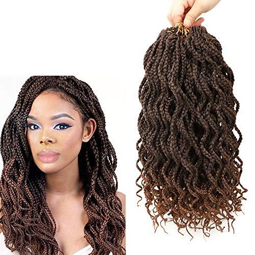 Goddess Box Braids Crochet Braids Hair with Full Curly Braids Synthetic Kanekalon Fiber Braiding Hair 14 Inch 5Packs/Lot (14Inch, T30)