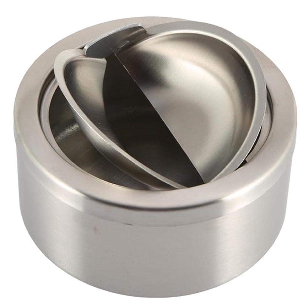 クライアントリットルミットS-TING 灰皿 卓上 雑貨 装飾 カバーホームアクセサリーとステンレス鋼のたばこ蓋付き灰皿シルバーラウンド防風灰皿 プレゼント