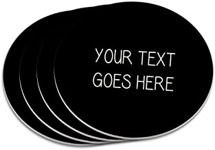 Graphics and More Personalized Custom Black Background Any Occasion Coaster Set