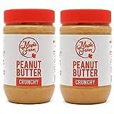 MapleFarm - Mantequilla de cacahuete 100% pura - CRUNCHY - 1 Kg (2x500g) - 100% Pure peanu...