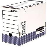 Fellowes Bankers Box System Lot de 10 Boîte d'archives A4+ Dos de 15 cm Bleu
