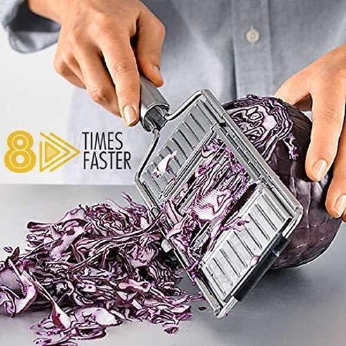 BLOUR Mehrzweck-Gemüseschneider Edelstahl-Reibenschneider Zerkleinerer Obst Kartoffelschäler Karottenreibe Küchenzubehör neu