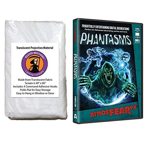 Maxx Flex AtmosFearFX Phantasms Halloween DVD and Reaper Brothers High Resolution Window Projection Screen