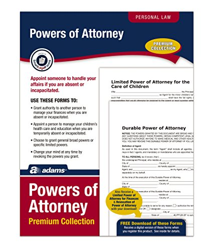 Adams Power of Attorney Forms Pack, Includes Forms and Instructions (ALFP126)
