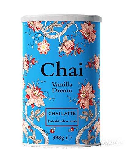 Nordic Roast | Chai Latte Tee | Vanilla Dream | 398g | Instant-Chai Tee Latte-Mischung in Pulverform, schwarzer Tee mit Milch, zu genießen zu Hause oder im Café, reicht für 15 Tassen
