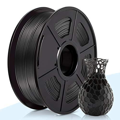 3D Warhorse PLA Filament Black,PLA Filament 1.75mm,PLA 3D Printer Filament, Dimensional Accuracy +/- 0.02 mm, 2.2 LBS(1KG),1.75mm Filament