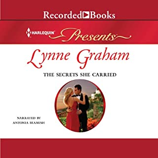 The Secrets She Carried                   By:                                                                                                                                 Lynne Graham                               Narrated by:                                                                                                                                 Antonia Beamish                      Length: 5 hrs and 44 mins     62 ratings     Overall 4.3