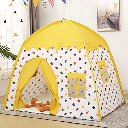 QZH Kids Play Tent & Playhouse - Tienda de campaña para Interiores/al Aire Libre - Niñas Juguetes para niñas Playhouse al Aire Libre Interior Camping de Camping [128 * 135 * 105cm],E