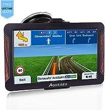 AONEREX GPS Navigation 7inch HD-8GB 256Mb Car GPS Navigation, Voice Traffic Warning,Speed Limit Reminder Satellite Navigation System with Non-Slip Car Bracket Holder-Lifetime Free Map Updates
