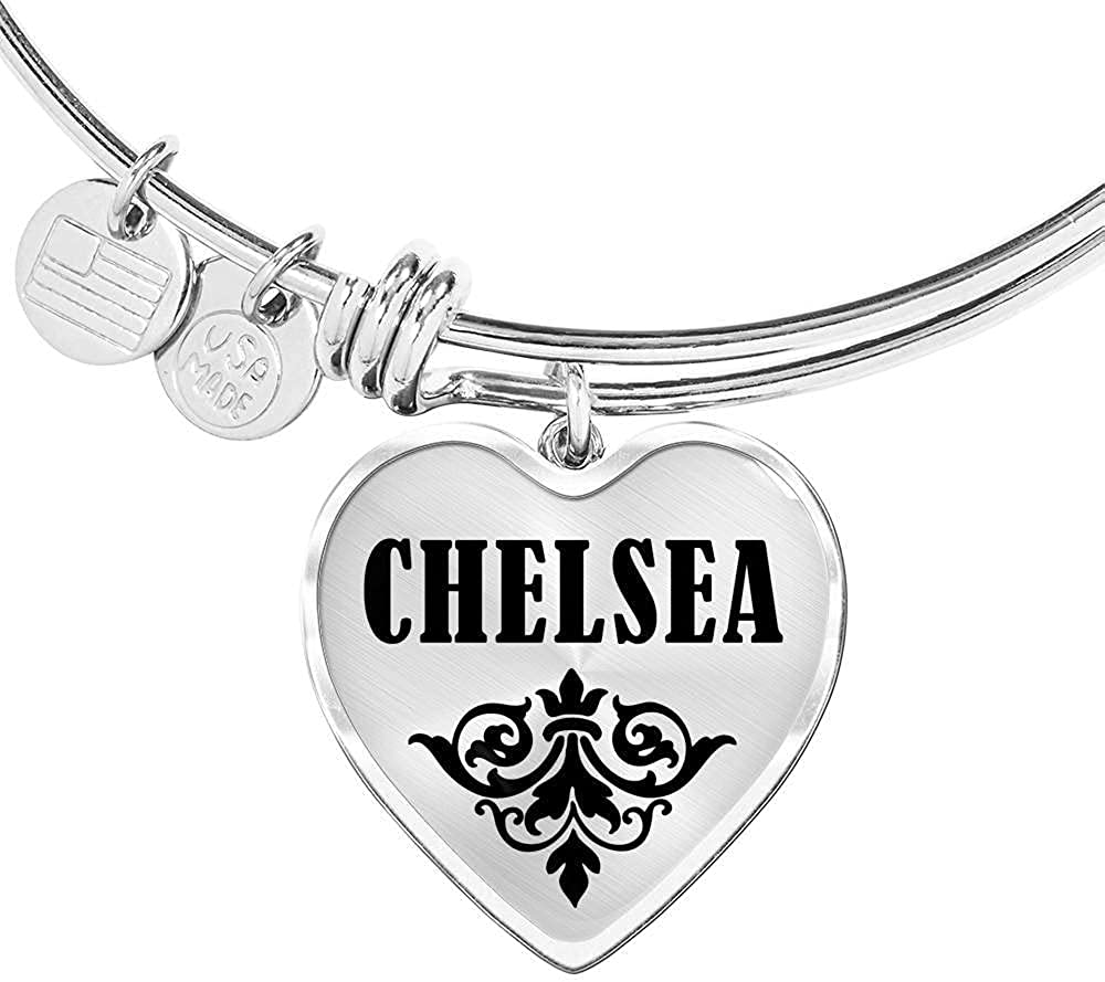 Unique Gifts Store Cheap mail order specialty store Chelsea v01 - Bracelet Heart Pendant Bangle price P