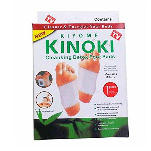 Original Kinoki Detox fusspads–Vital Plaster para los pies en doble Pack (2x 10= 20Pads)–as seen on TV.