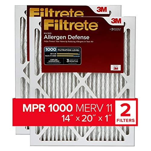 Filtrete 14x20x1, AC Furnace Air Filter, MPR 1000, Micro...