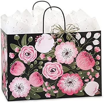 250 Pack Beauty products Moonlit Blooms Paper for Shopping 25% OFF Vogue Bags 16x6x12