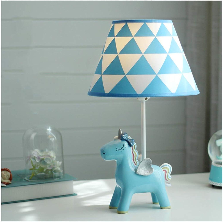 YYF Einhorn-Cartoon-Nachttischlampe (Farbe   Blau-25cmx42.5cm)