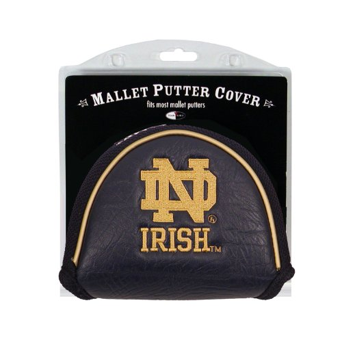 Team Golf NCAA Golf Club Mallet Putter Headcover, Fits Most Mallet Putters, Scotty Cameron, Daddy Long Legs, Taylormade, Odyssey, Titleist, Ping, Callaway, Notre Dame Fighting Irish