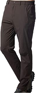 UV Protection Windproof Waterproof Pants Hiking Pants for Outdoor Sport Men's Brown Quick Dry Pants Cloth (Size : XXL)