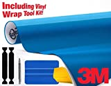 3M 1080 Gloss Metallic Blue Air-Release Vinyl Wrap Roll Including Toolkit