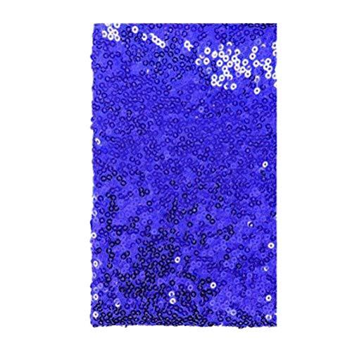 Supvox Traje de mesa Mantel de tela Vestido de tela de lentejuelas brillantes 135x100cm (zafiro)