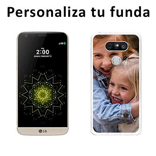 Mookase Funda Carcasa Gel Personalizada para LG G5 con tu Foto, Dibujo o Texto