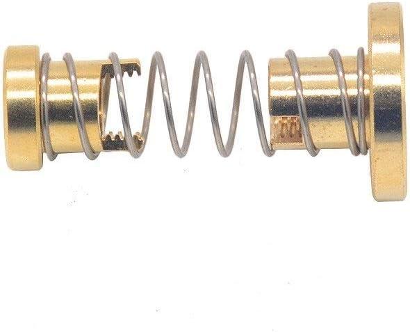 Ln T8 Bleischraube THSL-500-8D TrapezgewindeBlei Anti Spiel Gefederte Mutter Gewinde 8mm L/änge 200mm 300mm 400mm 600mm 700mm 800mm Color : Pitch 2mm Lead 2mm, Size : 350mm Silber