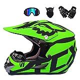 Betrothales motocross-helm und schutzbrille (5 stück) - schwarz und blau - erwachsener offroad-helm...