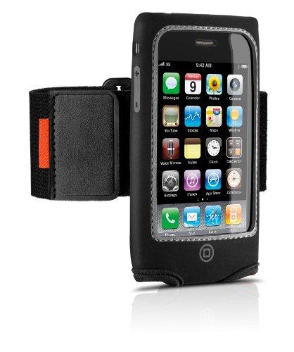 Philips DLM1324 Neoprene Fitness Hülle mit Clip und Armband schwarz für iPhone 3G/3GS