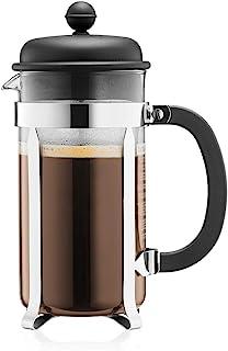 Bodum Caffettiera Kaffebryggare, rostfritt stålfilter, Svart, 1 L