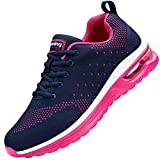 Nishiguang Women's Air Athletic Running Sneaker Fitness Sport Gym Jogging Tennis Shoes BluePink Size 9