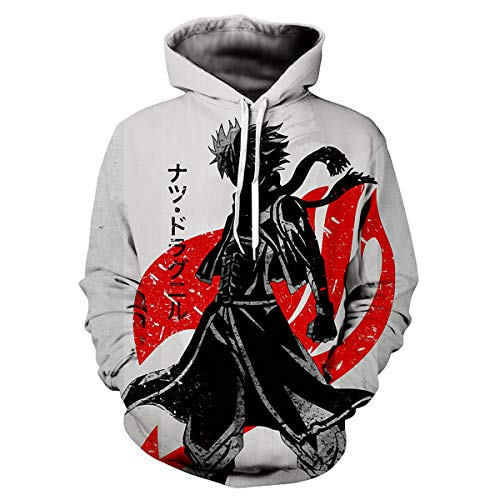 ZIMCA Fairy Tail 3D Printed Pullovers Casual Pouch Pocket Drawstring Hoodies Drawstring Hoodies