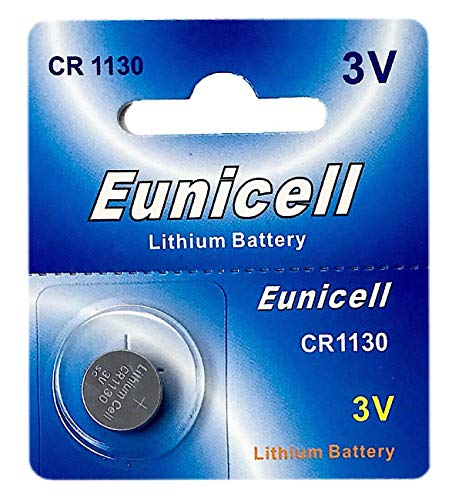 Eunicell 1 x CR1130 3V Lithium Knopfzelle 48 mAh (1 Blistercard a 1 Batterie) EINWEG