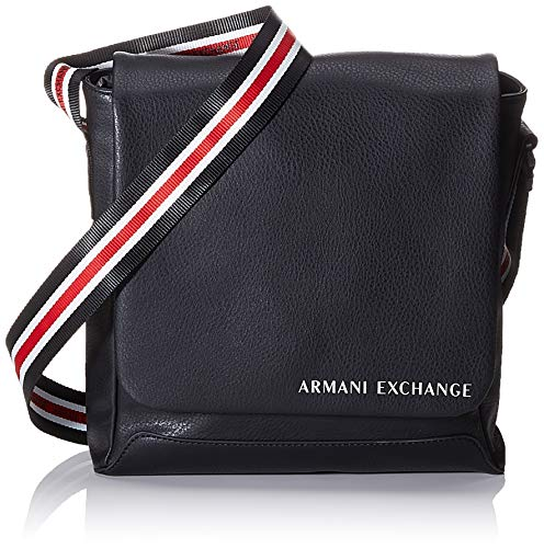 Armani Exchange Herren Crossbody Bag Business Tasche Schwarz (Black)