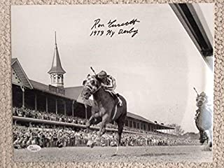 RON TURCOTTE HAND SIGNED OVERSIZED 11x14 PHOTO 1973 KENTUCKY DERBY - JSA Certified - Autographed Horse Racing Photos