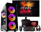 "Megamania PC Gaming AMD Ryzen 5 3400G, Ordenador de sobremesa 4.2GHz Turbo Quad Core | 16GB DDR4 | SSD 480GB + 1TB HDD | Gráfica AMD Radeon Vega RX 11 + Monitor LED FullHD 22"" + Kit Gaming"