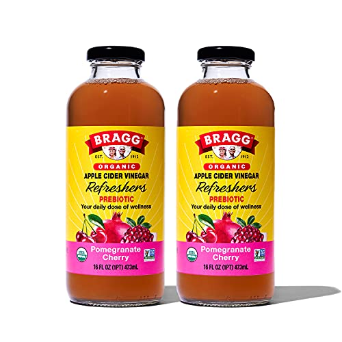 Bragg Organic Apple Cider Vinegar Beverage, Pomegranate Cherry - 16oz, 2 Pack