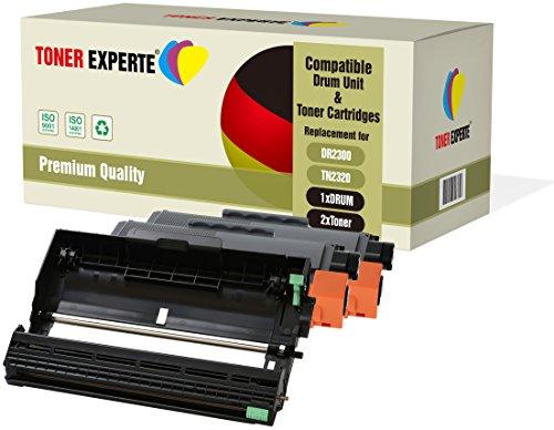 Kit 3 TONER EXPERTE® DR2300 Tamburo & TN2320 2 Toner compatibili per Brother HL-L2300D HL-L2340DW HL-L2360DN HL-L2365DW DCP-L2500D DCP-L2520DW DCP-L2540DN MFC-L2700DW MFC-L2720DW MFC-L2740DW