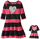 Dollie & Me Girls' Sequin Heart Fashion Dress