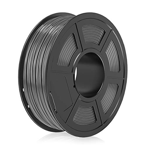 PLA Filamento Grey 1.75mm,3D Warhorse PLA Filamento de Impresion 3D,3D Printer Filament 1.75mm,Dimensional Accuracy +/- 0.02 mm,1KG(Spool),Polylactic Acid Material,1.75mm PLA 3D Printer Filament