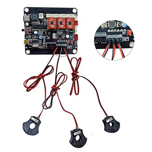 Jadazi 3-teiliges CNC-Gravur-Maschinenteile, zweizeilig, Endschalter, Set für CNC 3018 Pro Gravurmaschine, optische Achse (2 x XYAXIS 10 mm, 1 x ZAXIS 8 mm)