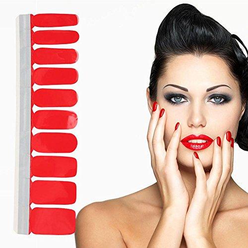 20 stücke Full Cover Nagellack Aufkleber Bunte selbstklebende Spitze Nail art Aufkleber Decals...
