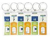 HOPEVILLE Gepäckanhänger für Kreuzfahrten, 6 Stück schmale robuste wasserfeste PVC Kofferanhänger mit Klipp-Verschluss und hochwertigem verschraubbaren Metallband